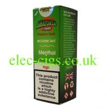 Menthol Nicotine Salt E-Liquid from Amazonia