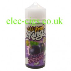 image shows a bottle of Blackcurrant Aniseed 100ML E-Liquid from the Fruit Kings Range