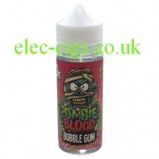 image shows a bottle of Bubblegum 100 ML E-Liquid from Zombie Blood