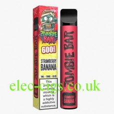 Zombie Bar 600 PuffStrawberry Banana. From only £3.90