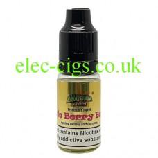 image shows a bottle of Amazonia 10ML Sub-Ohm E-Liquid Apple Berry Burst