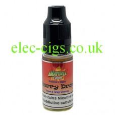 image shows a bottle of Amazonia 10ML Sub-Ohm E-Liquid Cherry Drops