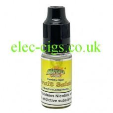 image shows a bottle of Amazonia 10ML Sub-Ohm E-Liquid Fruit Salad