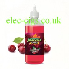 image shows a large bottle of Amazonia 500 ML E-Liquid Cherry Chunz