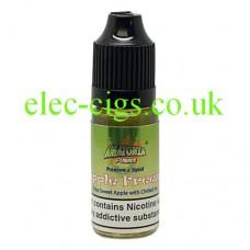 image shows a bottle of Amazonia 10ML Sub-Ohm E-Liquid Apple Freeze