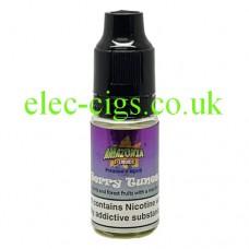 image shows a bottle of Amazonia 10ML Sub-Ohm E-Liquid Berry Tunes