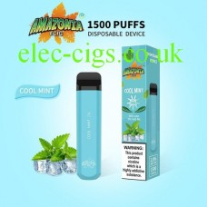 Cool Mint 1500 Puff Disposable E-Cigarette by Amazonia