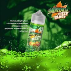 image shows a bottle of Amazonia Fizzy Blast E-Liquid Lilty