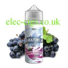 image shows a bottle of Amazonia Ice 100 ML E-Liquid Grape Aniseed