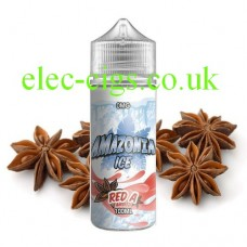 image shows a bottle of Amazonia Ice 100 ML E-Liquid Red A