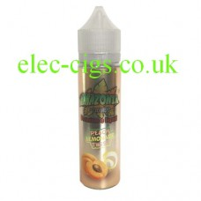 on a white background we see a single bottle containing Amazonia Premium 50 ML E-LiquidPeach lemonade Twist