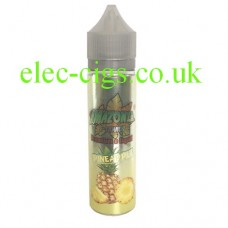 on a white background we see a single bottle containing Amazonia Premium 50 ML E-Liquid Pineapple