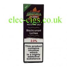 Amazonia Premium Nicotine Salt E-Liquid Blackcurrant Lychee