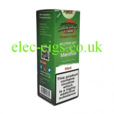 image of a box containing Amazonia Premium 10 ML Nicotine Salt E-Liquid Menthol