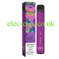 image shows a box the actual Vim'o 800 Puff Disposable E-Cigarette by Amazonia