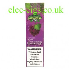 Image show a pack of the Amazonia Disposable E-Cigarette Grape