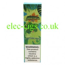 Image shows the outer packaging of the Amazonia Disposable E-Cigarette Menthol Mint
