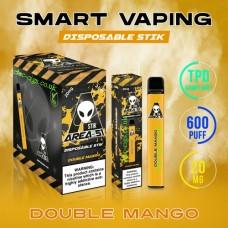 Image shows the boxes and actual stix of Area 51 600 Puff Disposable E-Cigarette Stix Double Mango