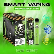 Image shows boxes and actual stix of Area 51 600 Puff Disposable E-Cigarette Stix Ice Mint
