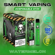 Image shows boxes and actual stix of Area 51 600 Puff Disposable E-Cigarette Stix Watermelon