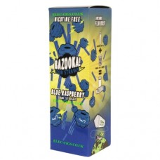 Image is of the box containing the Bazooka Sour Straws 100 ML Blue Raspberry E-Liquid