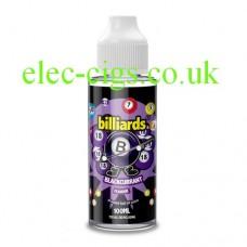 a bottle of Billiards 100ML E-Liquid Blackcurrant