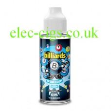 image shows a bottle of Billiards 100ML E-Liquid Bubblegum
