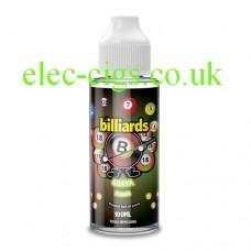 image shows a bottle of Billiards 100ML E-Liquid Guava