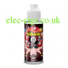image shows a bottle of Billiards 100ML E-Liquid Lychee