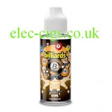 image shows a bottle of Billiards 100ML E-Liquid Mango