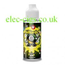 image shows a bottle of Billiards 100ML E-Liquid Pineapple