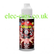 image shows a bottle of Billiards 100ML E-Liquid Red A