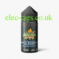 image shows a bottle of Black Edition Simple Berry Ice 100 ML E-Liquid by Amazonia