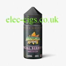 image shows a bottle of Black Edition Special Berry Ice 100 ML E-Liquid by Amazonia