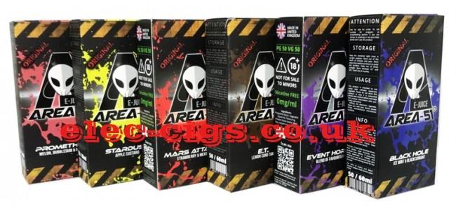 50 ML Bottles of Area 51 E-Juice