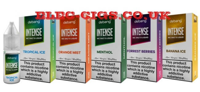 Showing 5 of the 8 flavours in the Debang Intense Nicotine Salt Range