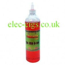 Image shows the huge bottle of Big Red A-500 ML E-Liquid by Frankenstein
