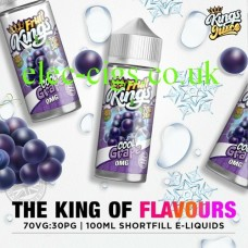 image shows a bottle of Cool Grape 100ML E-Liquid from the Fruit Kings Range