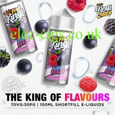 image shows a bottle Dark Berry 100ML E-Liquid from the Fruit Kings Range