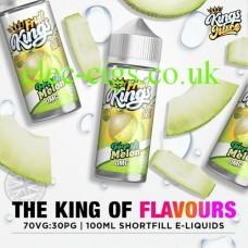 image shows a bottle of Fresh Melon 100ML E-Liquid from the Fruit Kings Range