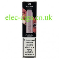 Image is of the box which contains the Geek Bar Disposable E-Cigarette Lychee Ice