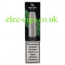 Image of a Geek Bar Disposable E-Cigarette Menthol