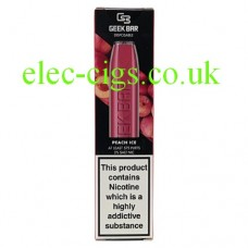 Image shows the box containing the Geek Bar Disposable E-Cigarette Peach Ice