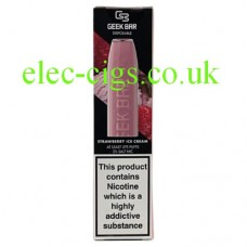 Geek Bar Disposable E-Cigarette Strawberry Ice Cream