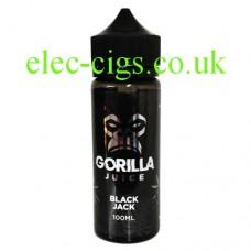 Black Jack 100 ML 70-30 E-Liquid by Gorilla Juice