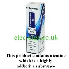HS VapourMX Premium E-Liquid: Blackcurrant Ice