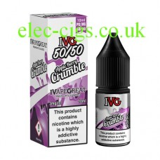 image shows a bottle and box of  IVG Apple Berry Crumble 10 ML E-Liquid