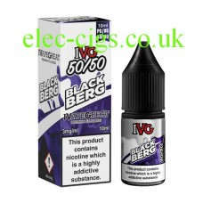 image shows a box and a bottle of IVG Black Berg 10 ML E-Liquid