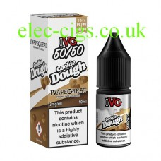 image shows a box and bottle of IVG Cookie Dough 10 ML E-Liquid