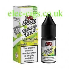 image shows a box and bottle of IVG Kiwi Lemon Kool 10 ML E-Liquid